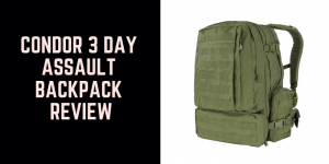 Condor 3 Day Assault Backpack Review 1