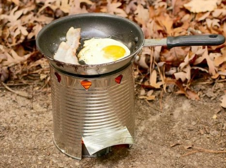 Turning A Can Into A Stove for camping